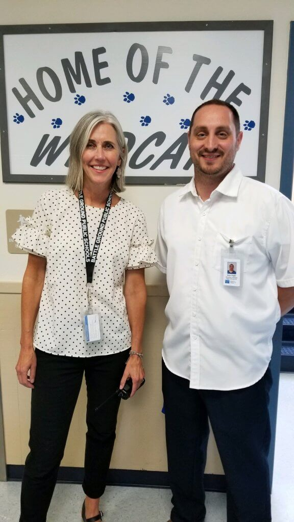 Principal Andrea Sperry and Assistant Principal Ben Ziegler